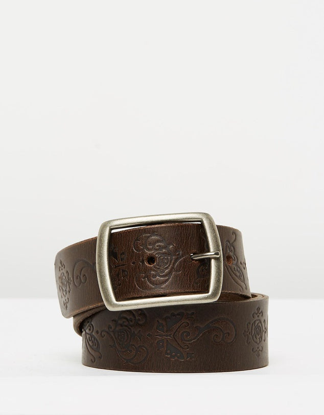 Loop Leather Co. Womens Belt San Vincete brown