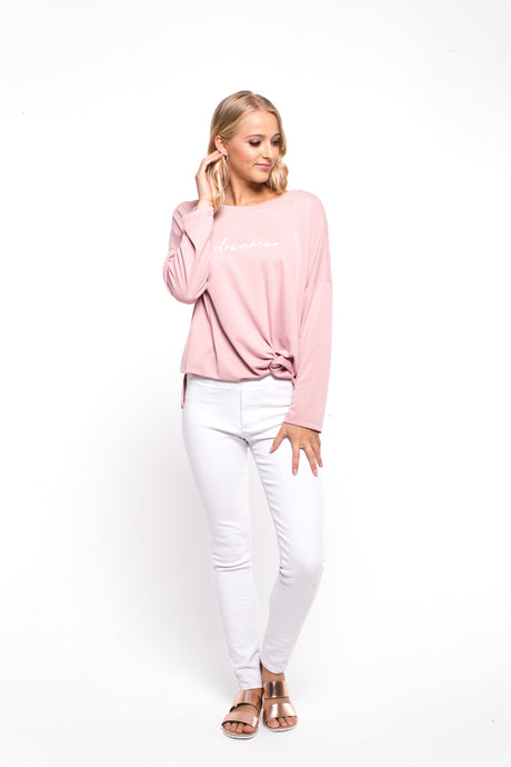 Zafina Twisted Pink Top