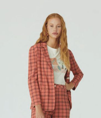 Nice Things Linen Check Blazer
