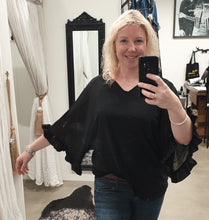 Jaclyn M Madison Batwing Blouse - Black