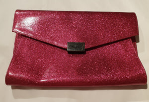Olga Berg Hot Pink Envelope Bag