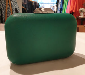 Olga Berg Green Box Clutch