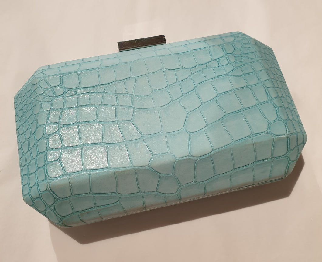 Olga Berg Light Blue Clutch