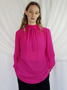 Jaclyn M Molly High Neck Blouse