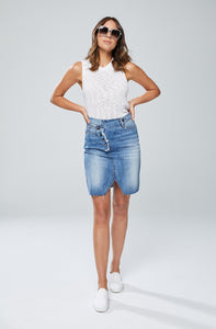 New London Leigh Denim Skirt