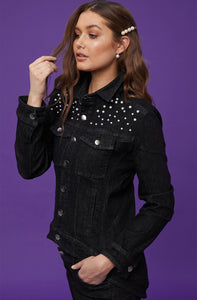 New London Charles Denim Jacket - Pearl Black