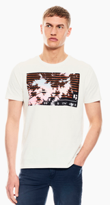 Garcia Mens White T-Shirt With Print