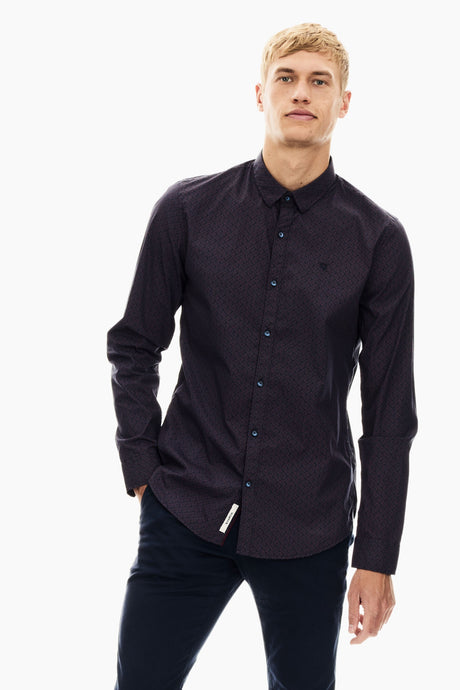 Garcia long sleeve shirt - Merlot