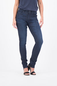 Garcia Caro Slim Curved Jeans Dark Used