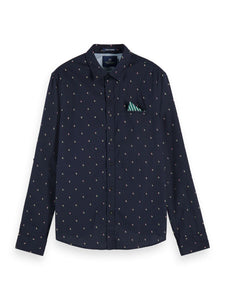 Scotch & Soda Navy Print Jacquard Shirt