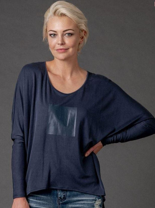 Mi Moso Finley Top - Navy