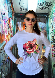 Anyone's Daughter Midnight Rose Tee - Pink/White