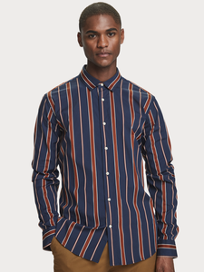 Scotch & Soda Striped Shirt Navy