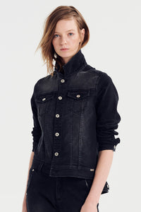 Jac and Mooki Denim Jacket Black