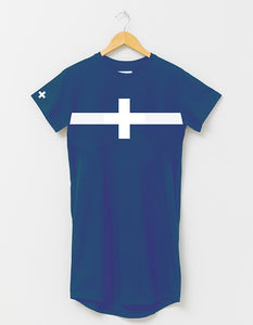 Stella + Gemma TShirt Dress - Cobalt White Cross