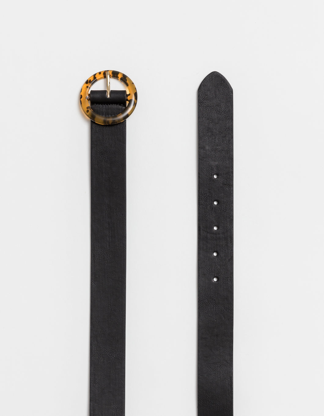 Stella and Gemma Black Belt with Tortoiseshell Buckle