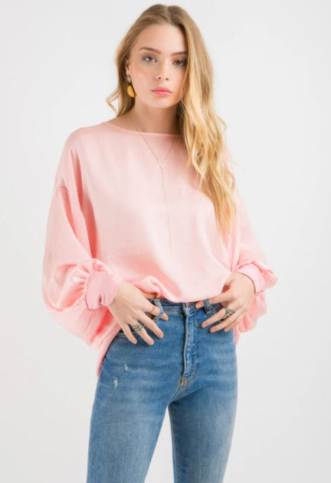 Stitch Ministry Cuff Sleeve Top - Blush