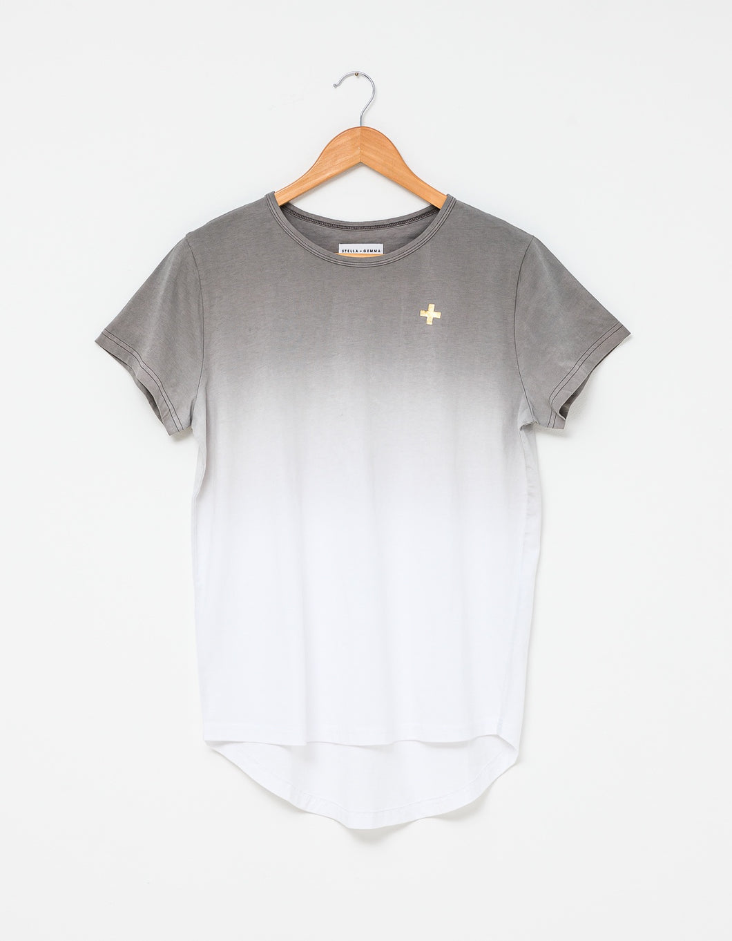 Stella + Gemma Tee - Ombre Charcoal