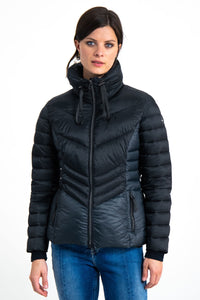 Garcia Puffer Jacket Navy and Beetle Green