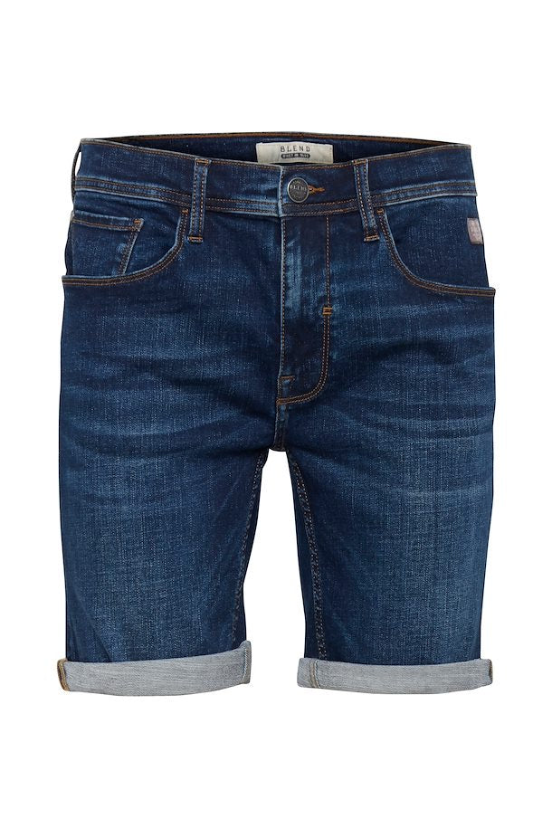 Blend He Denim Shorts Middle Blue