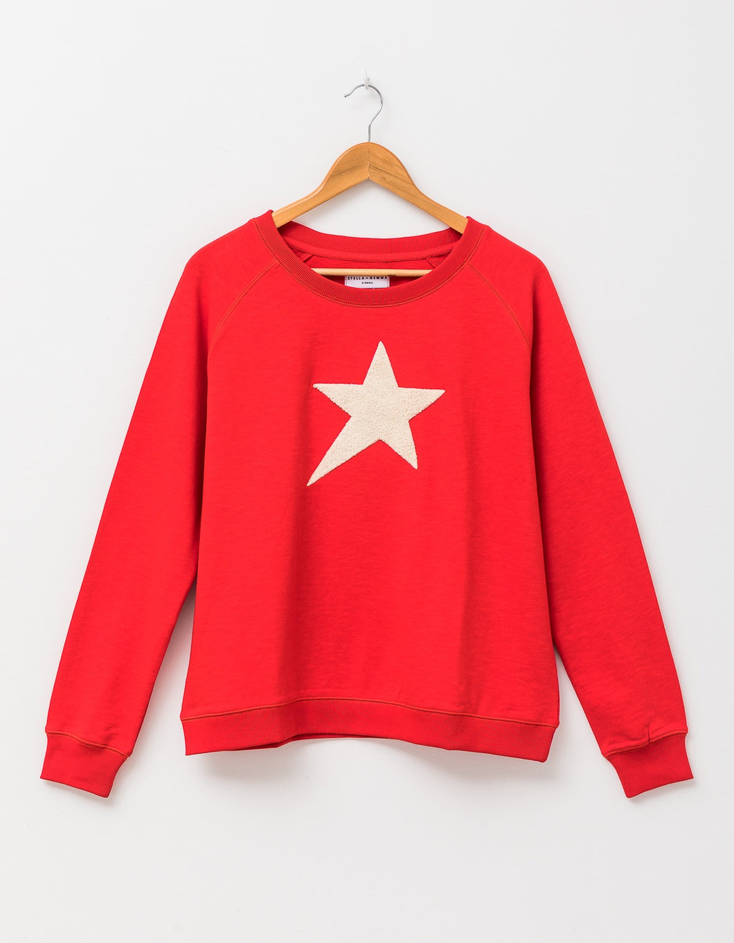 Stella + Gemma Sweatshirt - Flame Fluffy Star