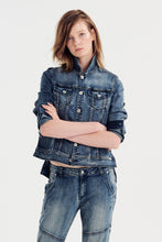Jac and Mooki Denim Jacket Stone Wash