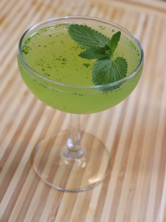 Green Goblet Cocktail