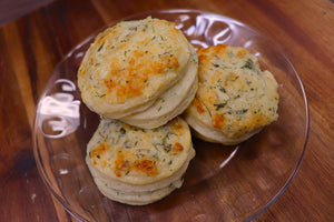 Herb and Cheese Layered Biscuits