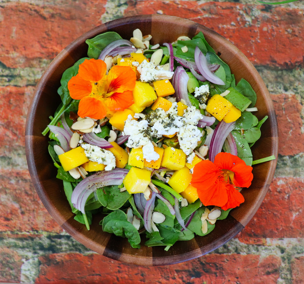Spinach and Mango Salad with Maple Vinaigrette