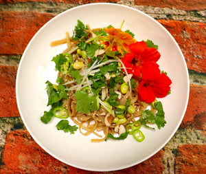 Sesame Peanut Noodles with Fresh Veggies