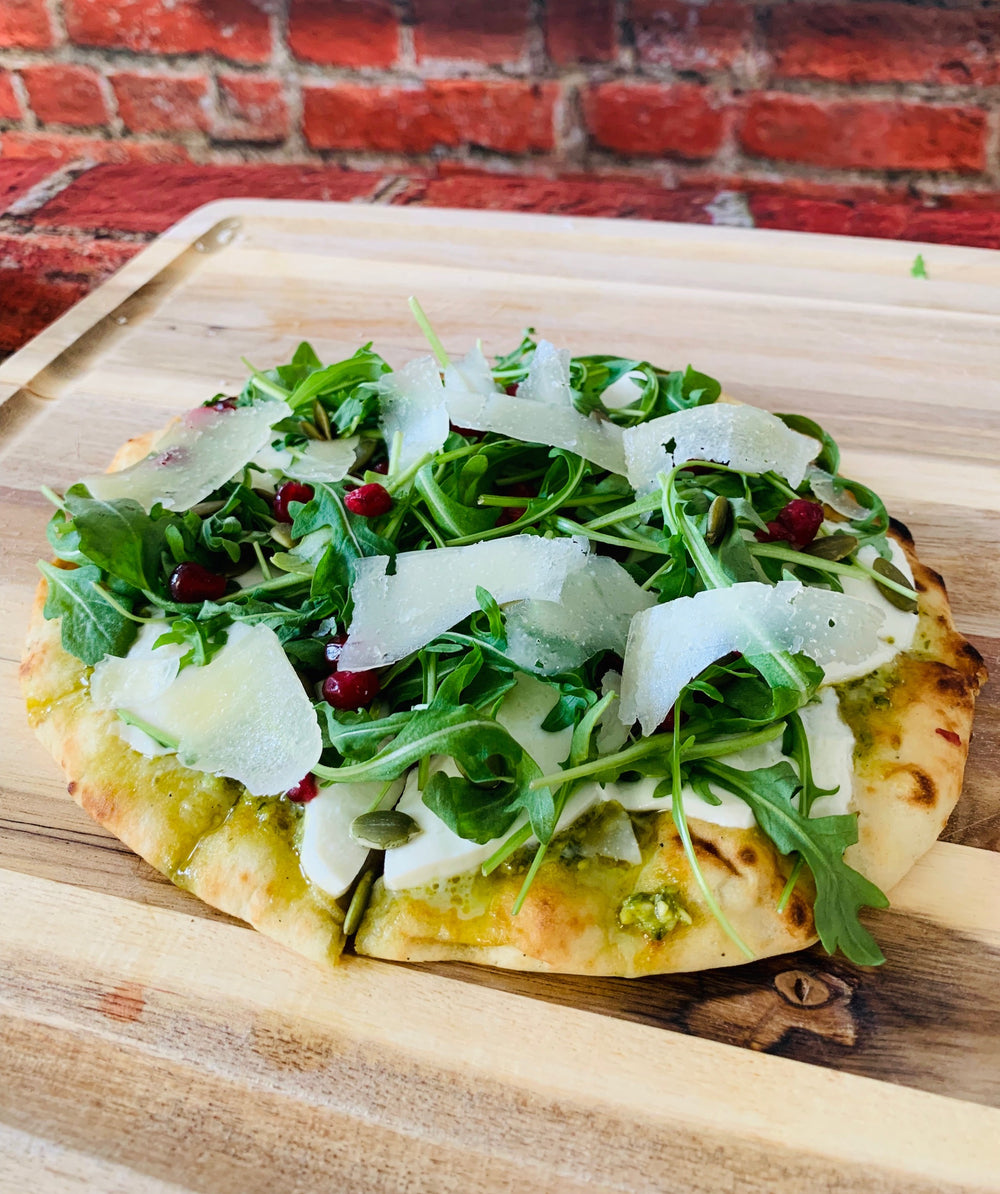 Grilled Arugula Naan Pizza