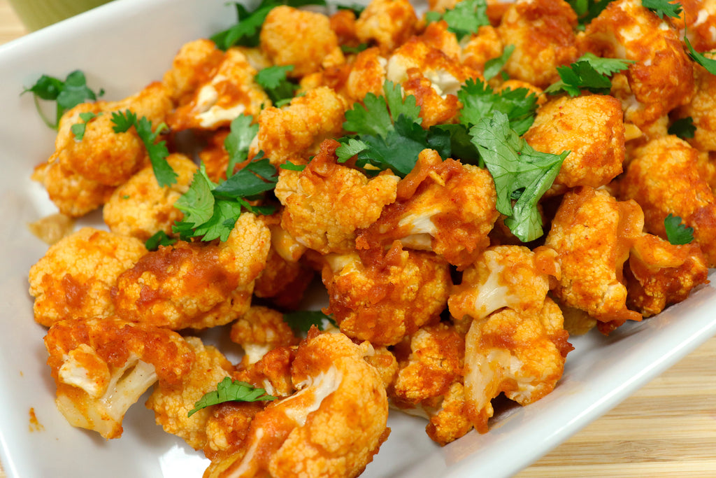 Spicy Cauliflower Bites with Peanut Dipping Sauce