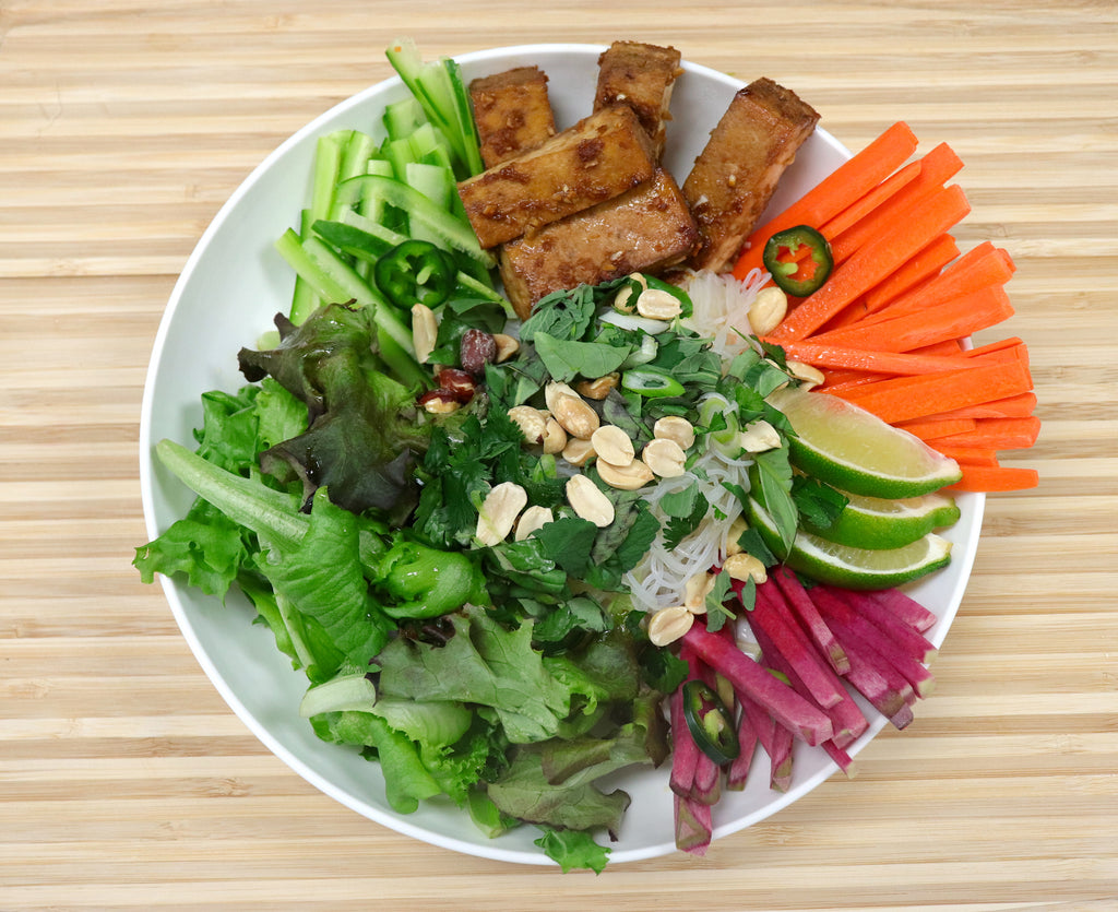 Vietnamese Rice Noodle Salad with Baked Tofu