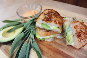 Sage, Avocado, and Smoked Gouda Melt
