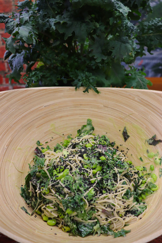 Asian Kale and Noodle Salad