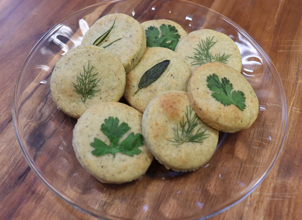 Parmesan Herb Shortbread Biscuits