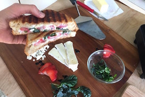 Strawberry & Garden Greens Grilled Cheese Recipe