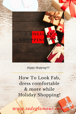 Holiday Shopping Tips Blog Tips for the Holidays by Sade Glamour
