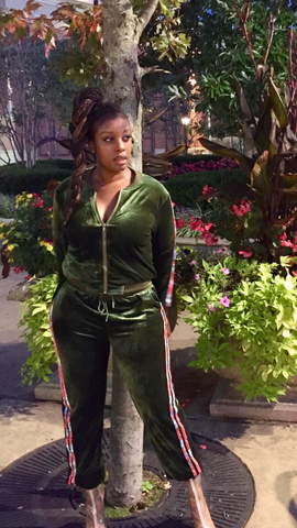 "Sade Glamour wearing ""Money Bag"" Tracksuit"