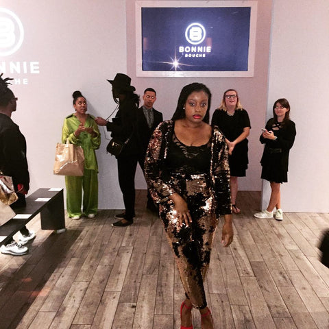 Fashion Designer Sade Glamour on the red carpet at the #STYLE360 #NYFW Show Presenting Angela Simmons Collection