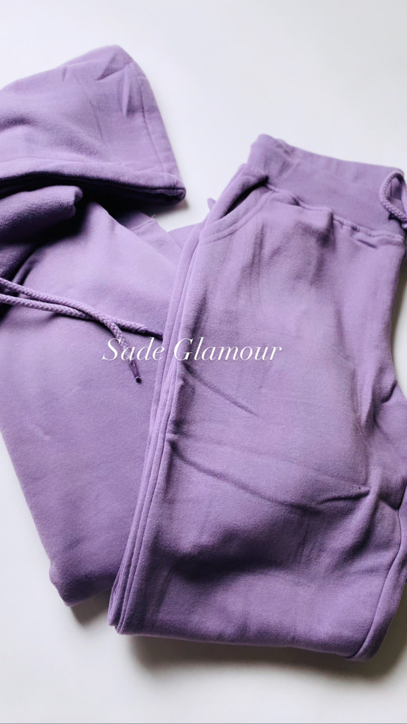 "Dusty ""Purple Rain"" Jogger set - SADE GLAMOUR"
