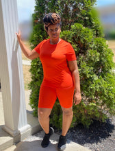 Load image into Gallery viewer, On Chill Orange biker short set - SADE GLAMOUR