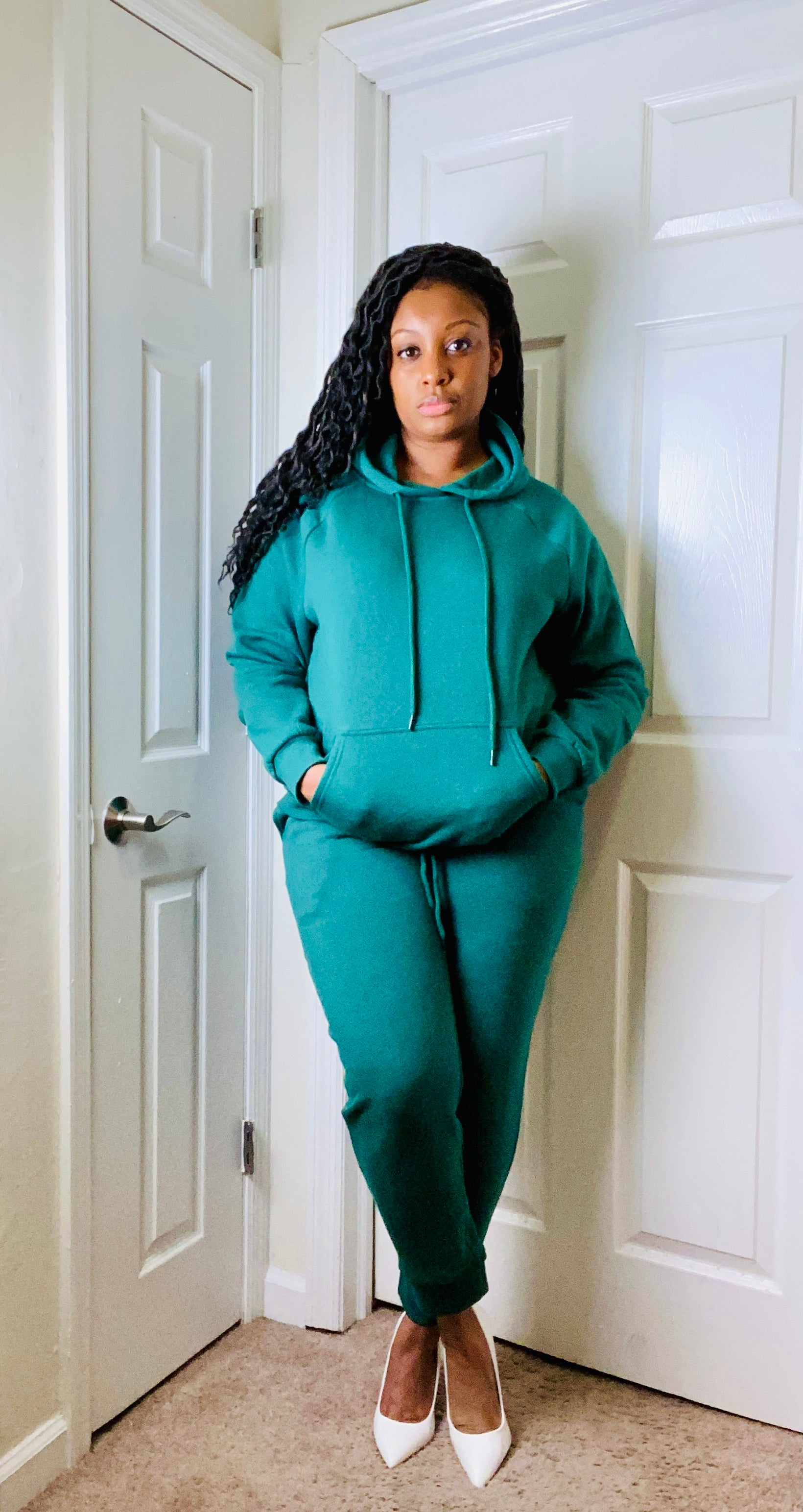 Dark Green Jogger Set - SADE GLAMOUR