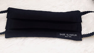 Restocked- UNISEX-Black on black Face Accessory - SADE GLAMOUR