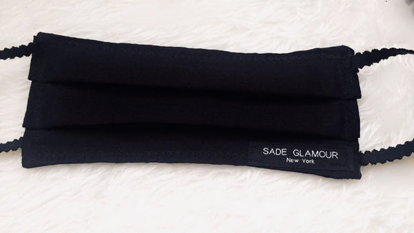 Black on black Face Accessory - SADE GLAMOUR