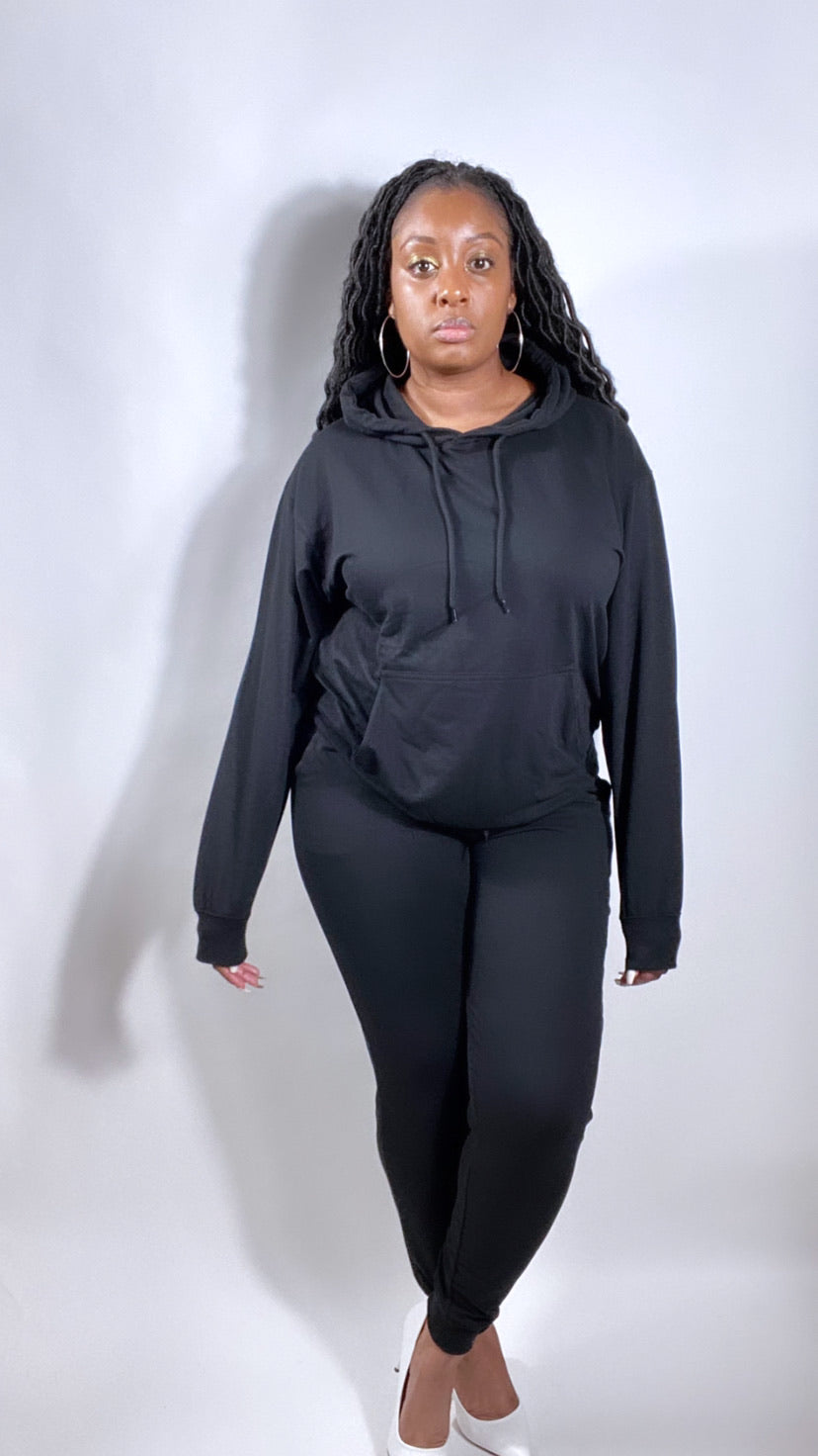 Black Is Queen Jogger Set - SADE GLAMOUR