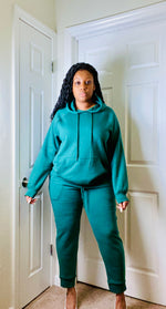 Load image into Gallery viewer, Dark Green Jogger Set - SADE GLAMOUR