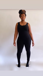 Essence black one piece jumpsuit - SADE GLAMOUR