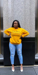 "Load image into Gallery viewer, ""Chanel & Champagne"" Me Sweatshirt - SADE GLAMOUR"