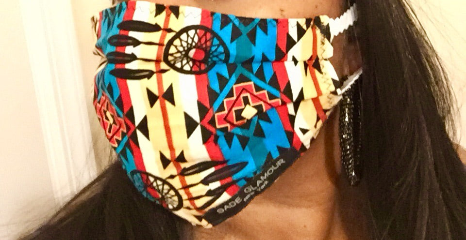 "NEW ""My tribe"" Face mask accessory - SADE GLAMOUR"